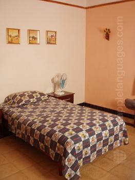 Slaapkamer bij een gastgezin