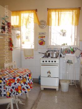 Keuken bij gastgezin