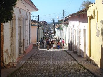 Typische straat van Trinidad