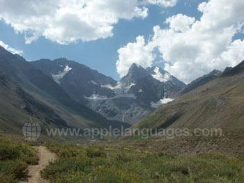Een pad door de bergen