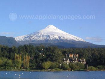 Met sneeuw bedenkte vulkanen