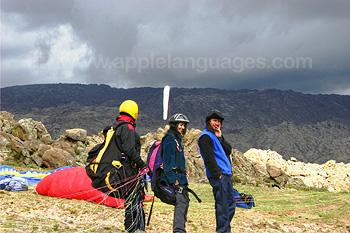Voorbereiding voor paragliding