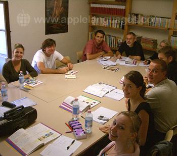 Italiaanse les op onze school in Florence