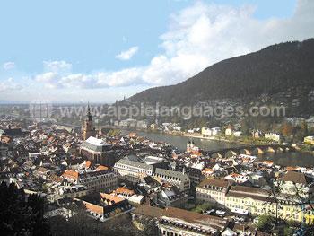 Uitzicht over Heidelberg