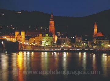 Heidelberg tijdens de nacht