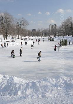 Montreal Park, tijdens de winter