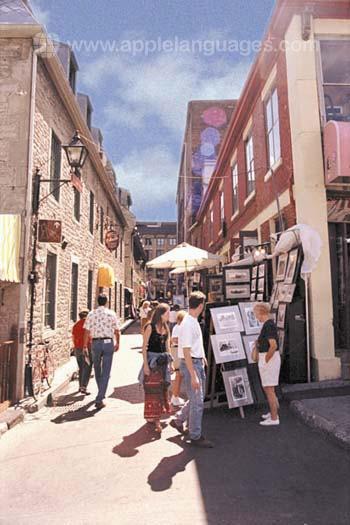 De oude stad in Montreal