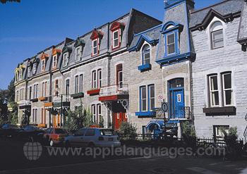 Typische straat in Montreal