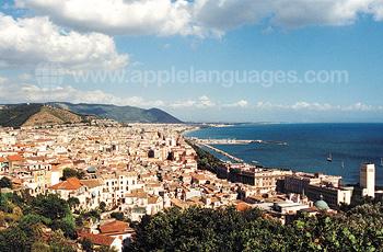 Panoramisch uitzicht van Salerno