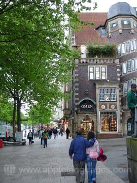 Typerende straat in Hamburg