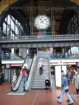 Het treinstation van Hamburg