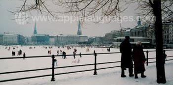 Hamburg tijdens de winter
