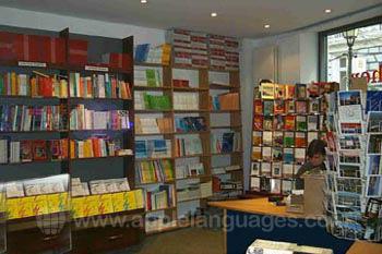 De boekwinkel van de school