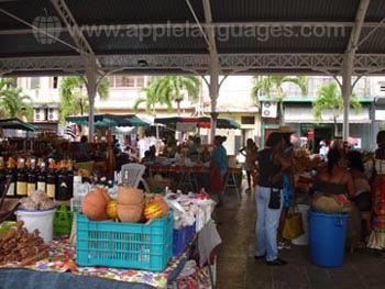 Typerende fruit markt