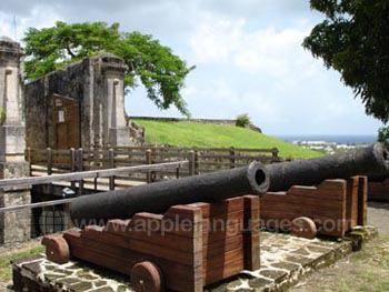 Nabijgelegen Frans koloniaal fort