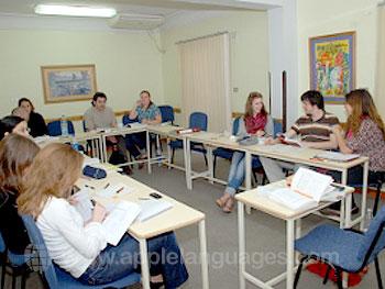 Arabische les op onze school in Cairo