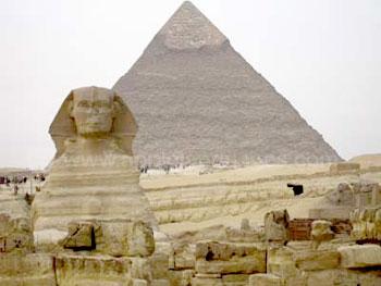 De Sfinx en de piramides van Gizeh
