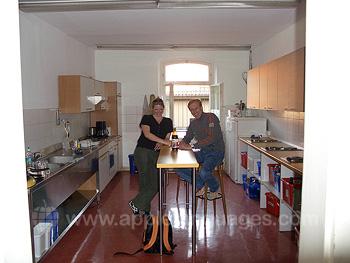 Keuken in de residentie van de school