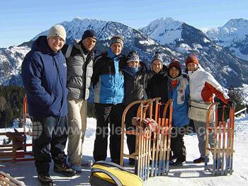 Een ski excursie van de school