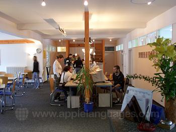 Het internetcafe van onze school in Lindau