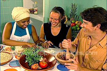 Studenten die lokale gerechten leren klaar te maken