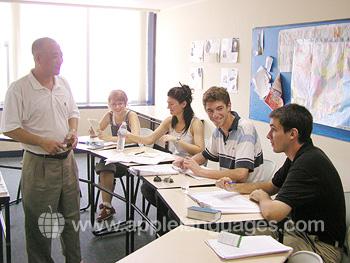 Chinese les op onze school in Qingdao