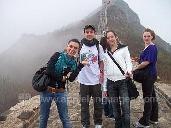 Studenten tijdens een excursie