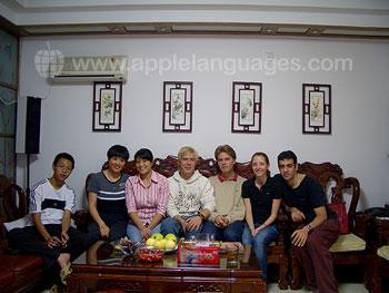 Studenten bij een gastgezin