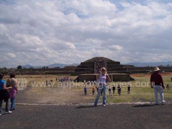Bezoek aan de Azteekse plaats