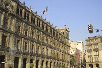 De historische Mexico Stad