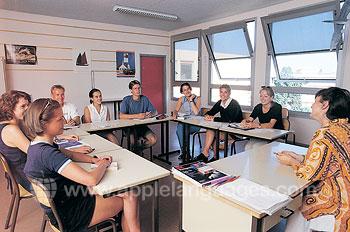 Franse les op onze school in Nice