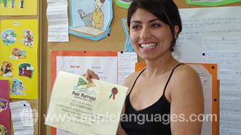 Student met certificaat