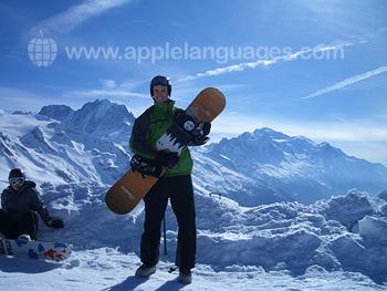 Snowboarden na de les