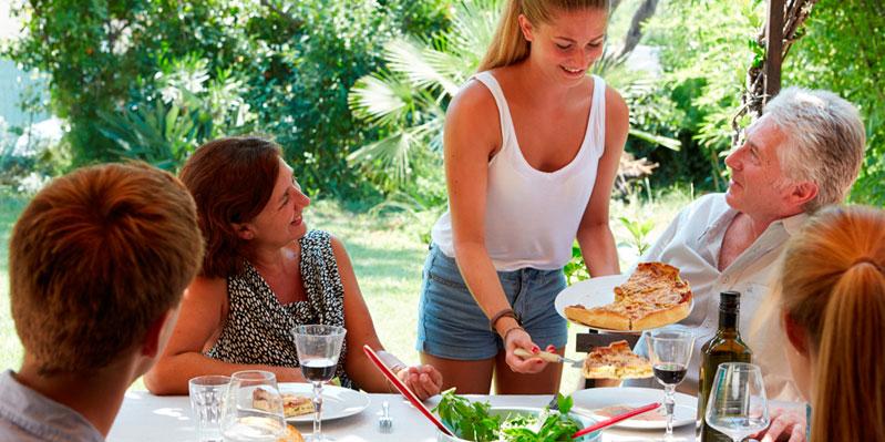 Etenstijd met een Gastgezin