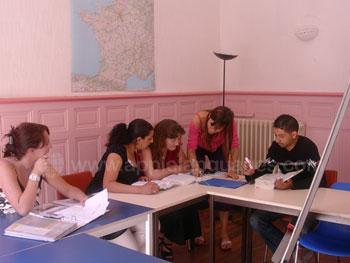 Franse les op de school