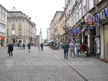 Typische straat in Krakau