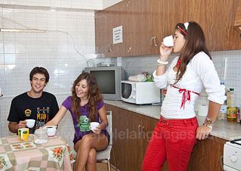 Studenten in een gedeeld appartement