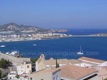 Uitzicht van Ibiza
