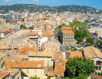 Uitzicht over Cannes