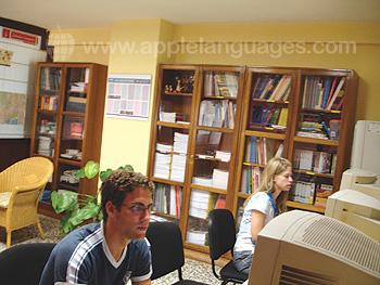Internet caf? van de school
