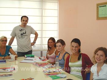 Spaanse les op onze school