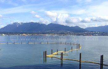 De baai in Vancouver