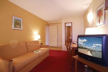 Lounge in de gedeelde appartementen