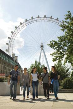 Studenten die Londen ontdekken