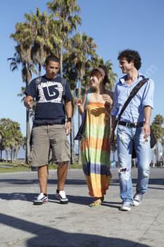 Studenten die Venice Beach ontdekken
