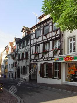 Een typerende straat in Radolfzell
