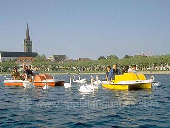 Studenten die varen op de Bodensee
