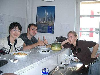 Keuken in gastenverblijf