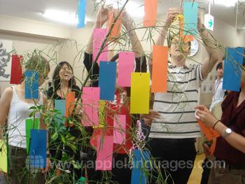 Tanabata viering op school