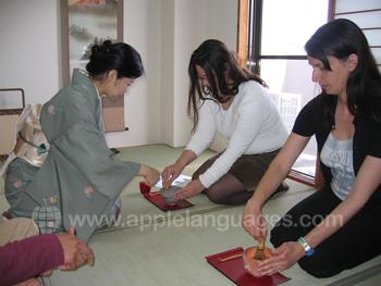 Deelnemen aan de thee ceremonie